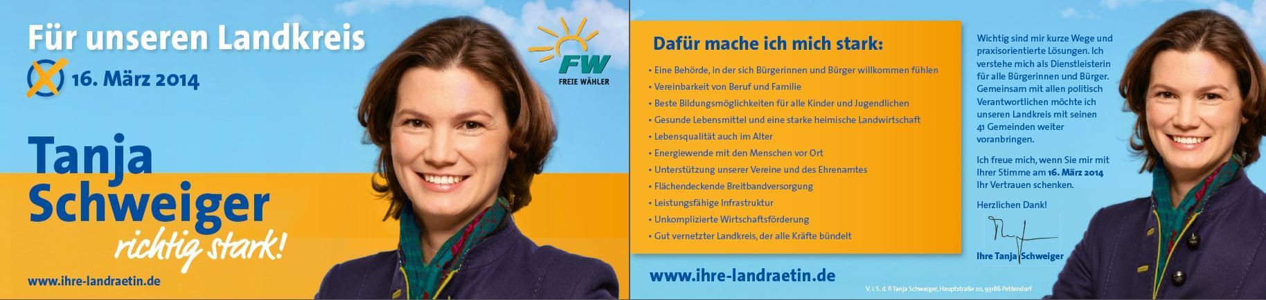 Kurzprogramm Tanja Schweiger richtig stark ihre landraetin