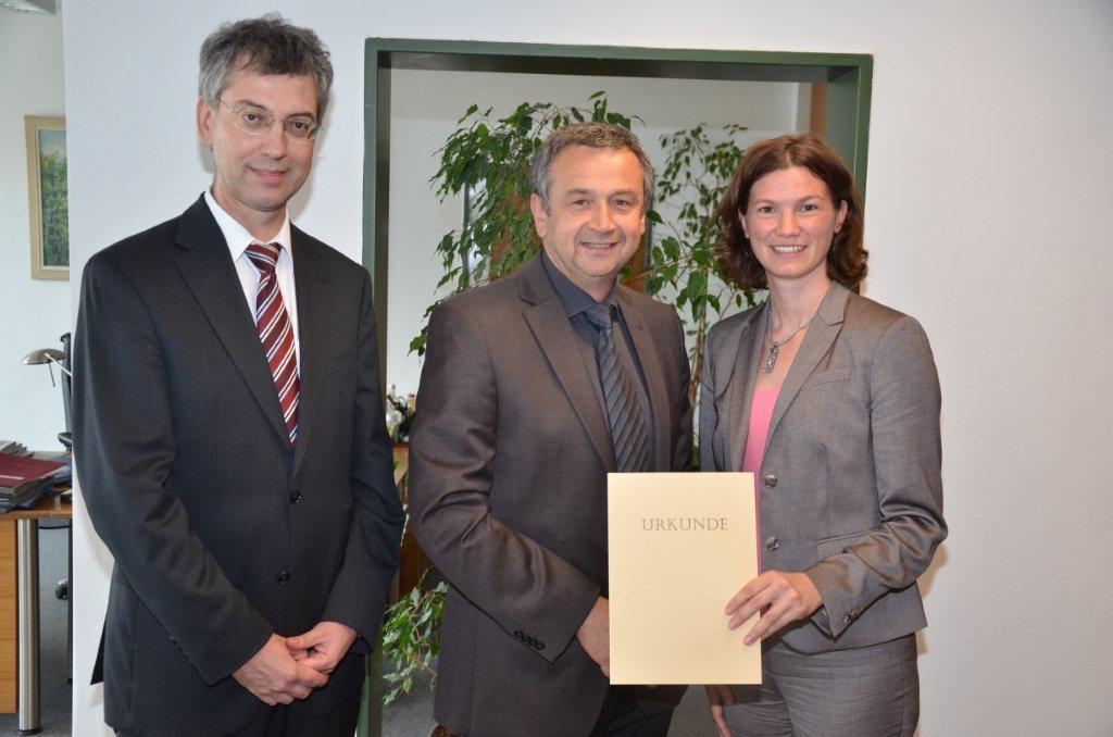 Beförderung Dr. Reinhold Schoierer