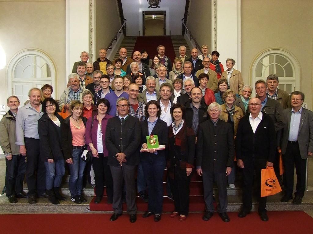1.Reihe v.l.n.r. Dr. Karl Vetter, Tanja Schweiger, Ulrike Müller, Karl Meier